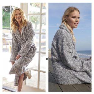 NWT Barefoot Dreams Heathered Unisex Cozy Robe